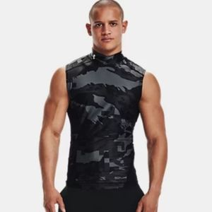 Under Armour iso-chill compression mock printed sleeveless top